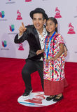 The 16th Annual Latin GRAMMY Awards. LAS VEGAS , NOV 19 : Sophie Cruz (R) attends the 16th Annual Latin GRAMMY Awards on November 19 2015 at the MGM Grand Arena Stock Photography