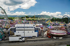 "The 17th Annual Salem Fair. Salem, VA – July 1st: An overall view from of the ""Haley Toyota Field"" of the 17th Annual Salem Fair, Salem, VA, USA on the 1st Stock Image"