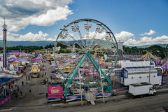"The 17th Annual Salem Fair. Salem, VA – July 1st: An overall view from of the ""Haley Toyota Field"" of the 17th Annual Salem Fair, Salem, VA, USA on the 1st Royalty Free Stock Photo"