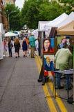 The 60th Annual Sidewalk Art Show – Roanoke, VA. Roanoke, VA – June 2nd: People enjoying a beautiful sunny day at the 60th annual Sidewalk Art Show stock photography