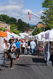 36th Annual Steppin'Out Festival. Blacksburg, VA – August 5th: A View of the 36th Annual Steppin' Out Festival with over 300 crafters, artisans and royalty free stock images