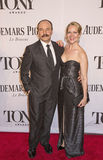 68th Annual Tony Awards. Talented musical stage stars and married couple,l Danny Burstein and Rebecca Luker, arrive on the red carpet for the 68th Annual Tony Royalty Free Stock Image
