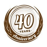 40 year anniversary. Elegant anniversary design. 40th logo. 40 years anniversary celebration design template. Forty years celebrating vector and illustration vector illustration
