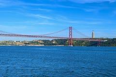 25th april bridge. In the city of lisbon Royalty Free Stock Photos