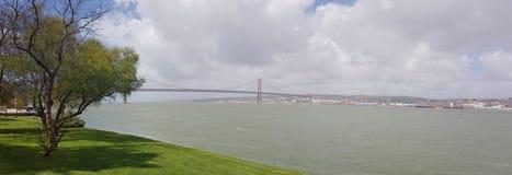 25th April Bridge in Lisbon Royalty Free Stock Photos
