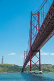 25th of april bridge in lisbon Stock Image