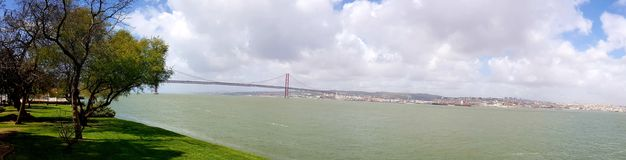 25th April Bridge in Lisbon Stock Image