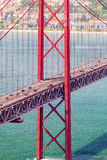 25th of April Bridge in Lisbon. Panorama Royalty Free Stock Images