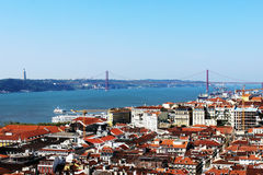 25th of April Bridge, Lisbon, Portugal. 25th of April Bridge in Lisbon, Portugal Royalty Free Stock Photo