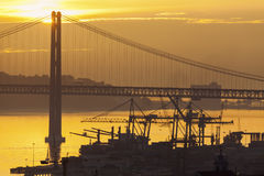 25th of April Bridge in Lisbon. Lisbon, Portugal Stock Photography
