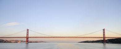 25th of April Bridge in Lisbon, Portugal Stock Image
