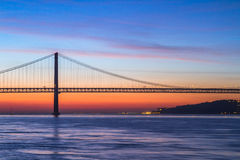 The 25th of April Bridge in Lisbon, Portugal Stock Images