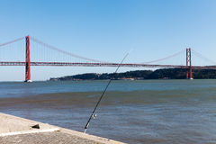 25th april bridge, Lisbon, Portugal. Stock Photo