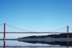 25th april bridge, Lisbon, Portugal. Royalty Free Stock Photography