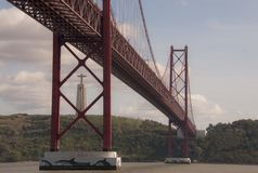 25th of April Bridge in Lisbon stock photography