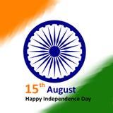 15th august önskakortillustration med flaggan Arkivfoto