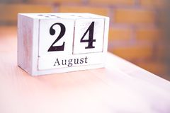 24th of August - August 24 - Birthday - International Day - National Day stock images