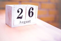 26th of August - August 26 - Birthday - International Day - National Day royalty free stock photography