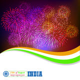 15th of August celebration concept with ashoka wheel. Vector illustration Stock Photography