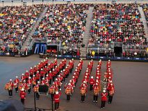 Edinburgh Military Tattoo. 20th August 2011 from Edinburgh Castle during the Edinburgh Military Tattoo royalty free stock photos
