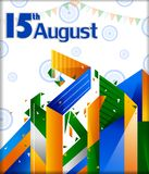 15th August, Happy Independence Day of India background. In vector stock illustration