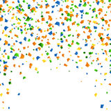 15th of August - Independence day celebration confetti background. 15th of August - Independence day celebration background. Blue,green and yellow confetti on Stock Images