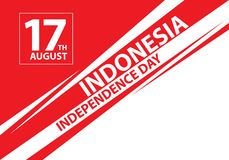 17th August Independence day Indonesia text on speed line design holiday celebration vector. Illustration vector illustration
