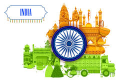 15th August Independence of India tricolor background. In vector Stock Photo