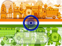 15th August Independence of India tricolor background. In vector royalty free illustration