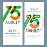 15th of August, India Independence Day. Vector multicolor banners and backgrounds. Stock Photography