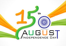 15 th of August Indian Independence Day. Vector illusration Stock Photo