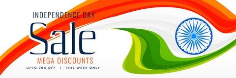 15th august indyjski dzień niepodległości sprzedaży sztandaru pojęcia projekt Ilustracji