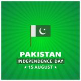 14th August Pakistan Independence Day Abstract bakgrund Arkivfoton