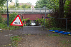 17th August 2017, Park Drive, Wickford, Essex, England.  A pedestrian underpass has become flooded. Stock Images