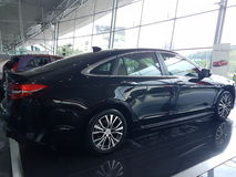 13th August, Shah Alam, Malaysia.National new car. Design that Thrills Stock Images