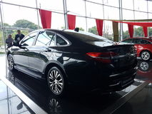 13th August, Shah Alam, Malaysia.National new car. Design that Thrills Stock Image