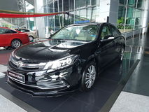 13th August, Shah Alam, Malaysia.National new car. Design that Thrills Stock Photography