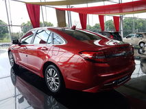 13th August, Shah Alam, Malaysia.National new car. Design that Thrills Stock Photo