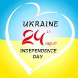 24th august Ukraina dnia niepodległości sztandar ilustracji