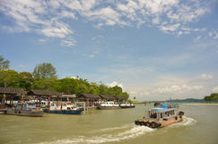 9th August 2013 - Updated picture of Boat ride to Pulau Ubin Singapore Stock Photo