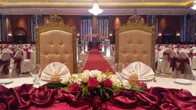 7th Augusti 2016, Kuala Lumpur, Malaysia En funktion för bankettbröllopmatställe Arkivbild