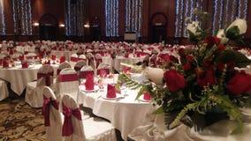 7th Augusti 2016, Kuala Lumpur, Malaysia En funktion för bankettbröllopmatställe Royaltyfria Foton