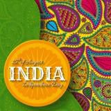 15th av August India Independence Day Arkivbild