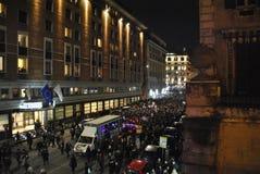 8th av den högra demonstrationen Rome för marschkvinna` s Arkivfoto