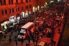 8th av den högra demonstrationen Rome för marschkvinna` s Royaltyfri Foto