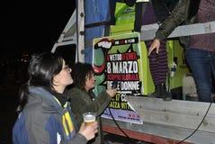 8th av den högra demonstrationen Rome för marschkvinna` s Royaltyfri Bild