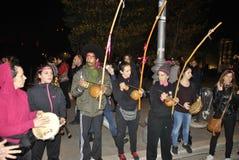 8th av den högra demonstrationen Rome för marschkvinna` s Royaltyfria Bilder