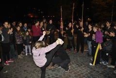 8th av den högra demonstrationen Rome för marschkvinna` s Arkivfoton
