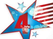 4th av den Juli illustrationen, amerikansk självständighetsdagenberöm Royaltyfri Fotografi