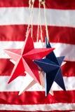 4th av Juli amerikanska självständighetsdagengarneringar Arkivbilder